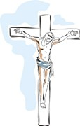 Bible Verses - Picture of Jesus Christ on the cross