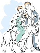 Bible Verses - Picture of Jesus, Mary and Joseph